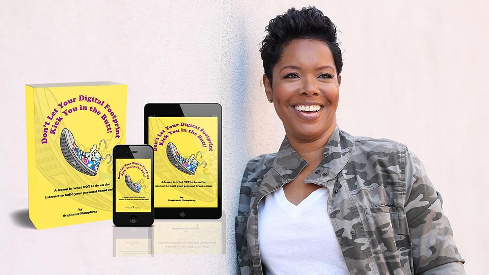 author stephanie humphrey with her book