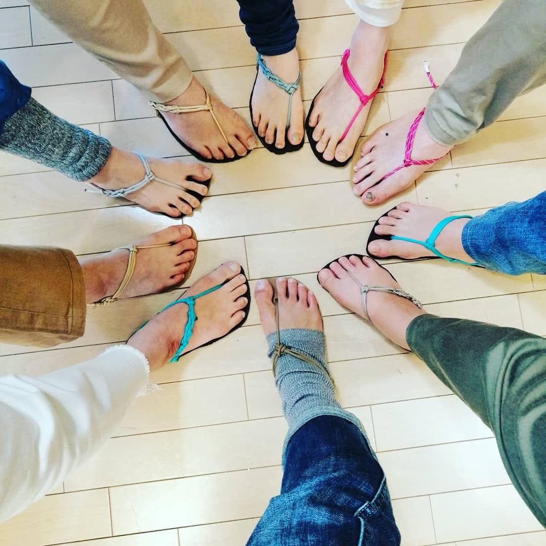8月31日(火)足が喜ぶワラーチ作りWS@神楽坂