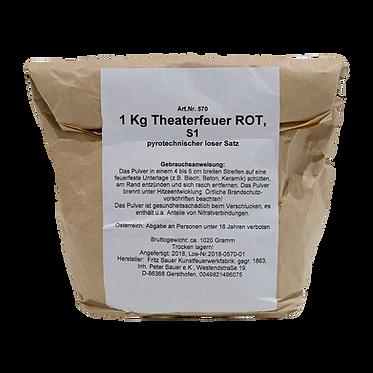 Schellackfeuer (Theaterfeuer) Rot 1kg