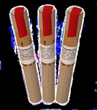 Bengalflamme Rot 10 min. mit Reibkopf und Pappgriff