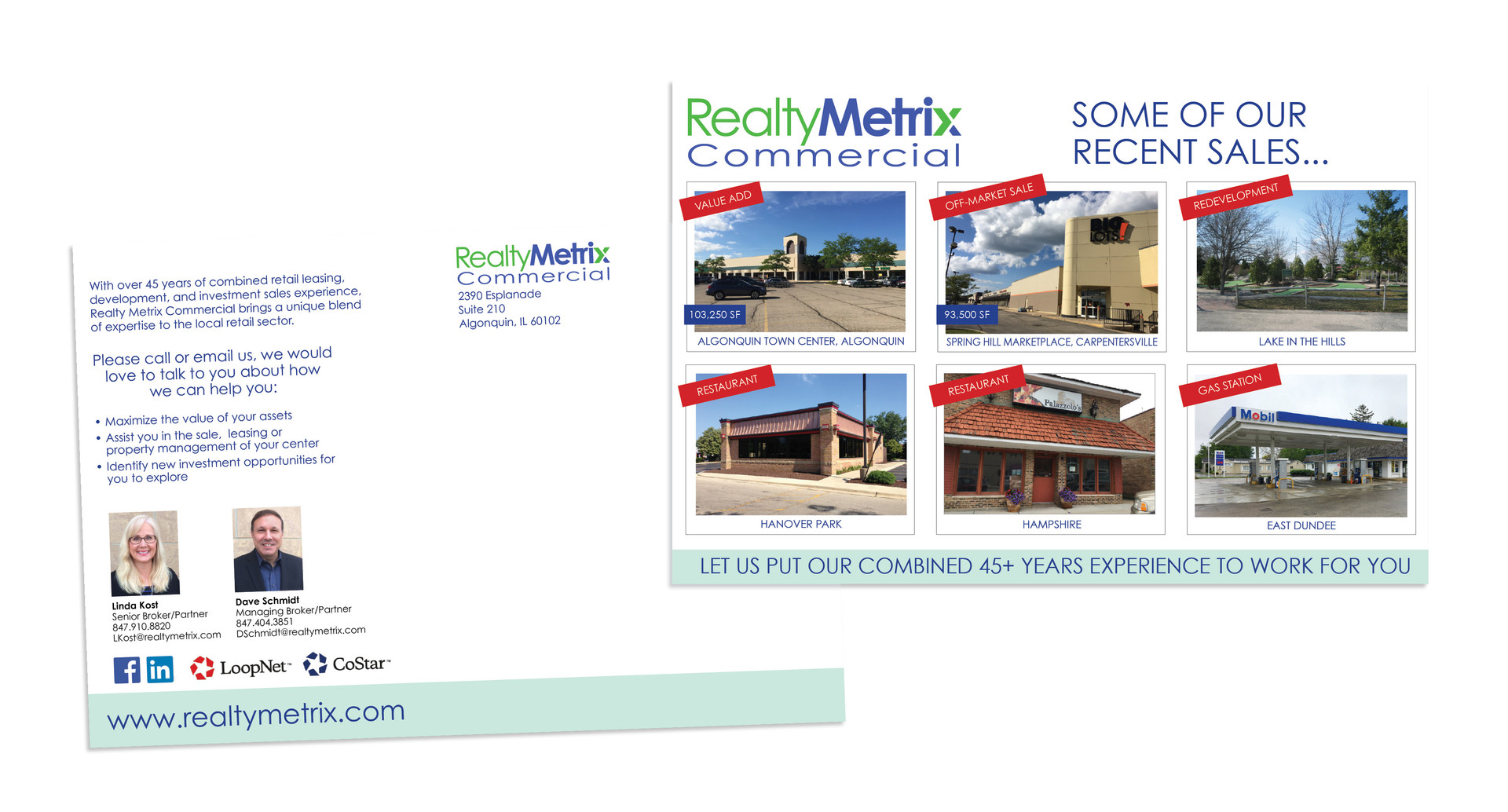 Realty Metrix Commercial postcard