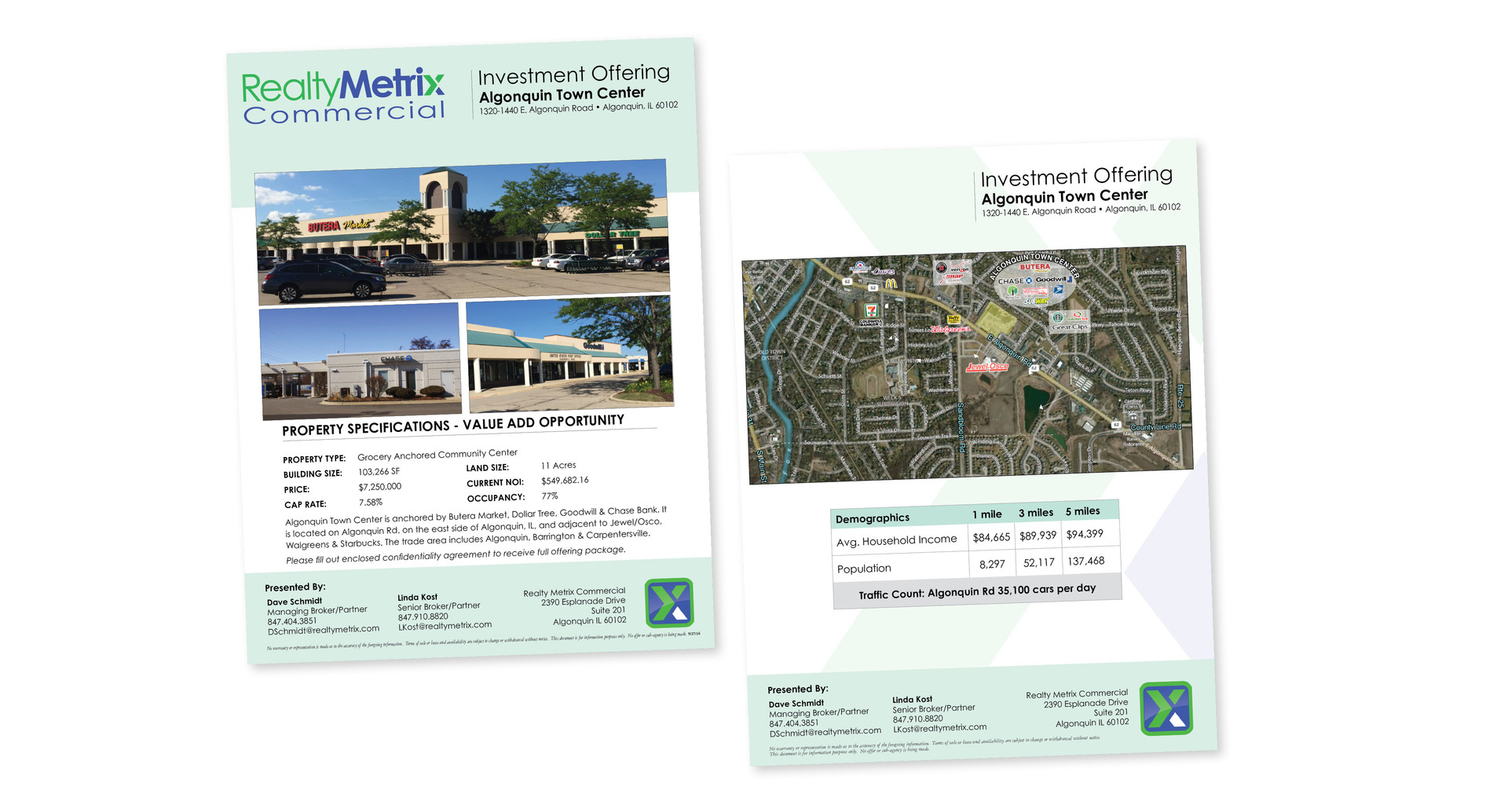 Realty Metrix Commercial Listing Brochure