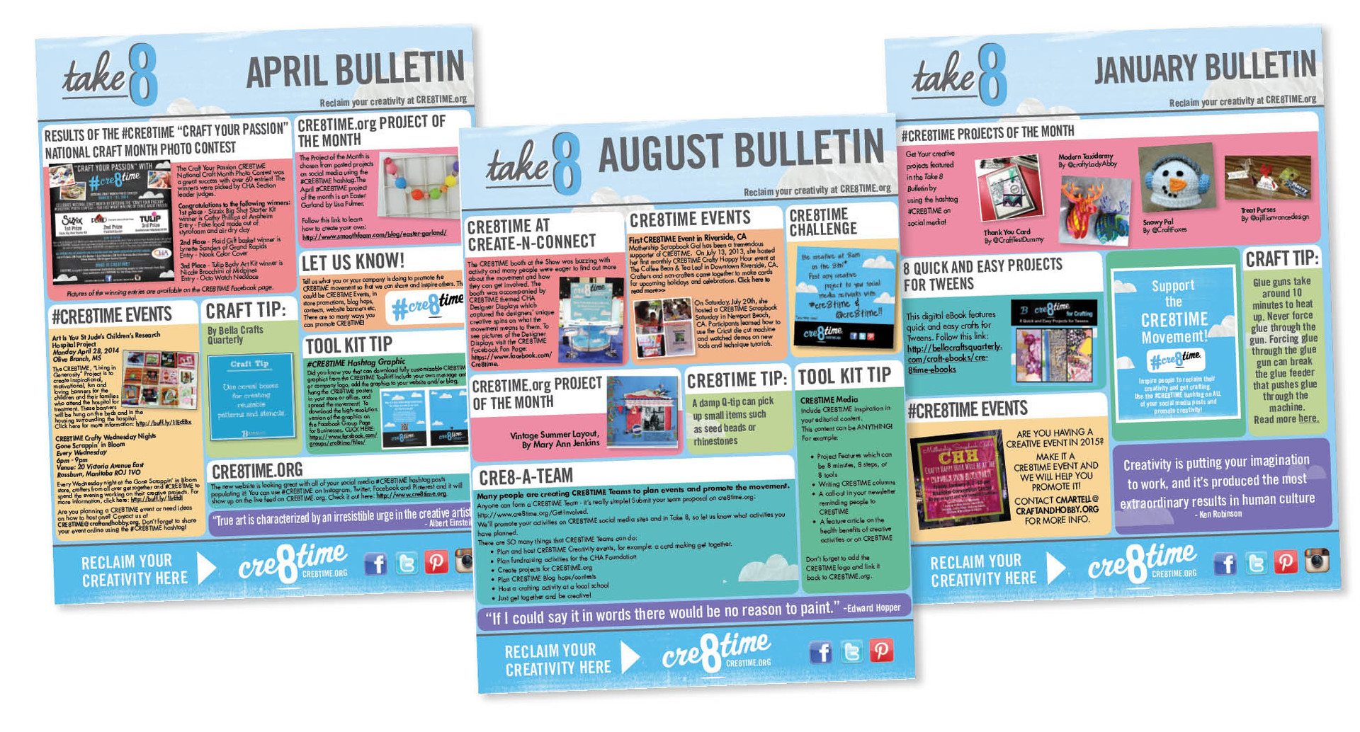 Cre8time Monthly Bulletin Series