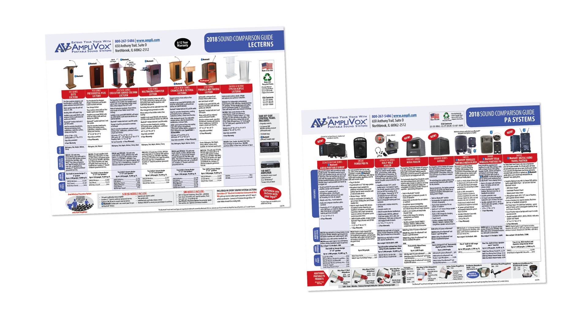 AmpliVox Sound Systems Product Guide
