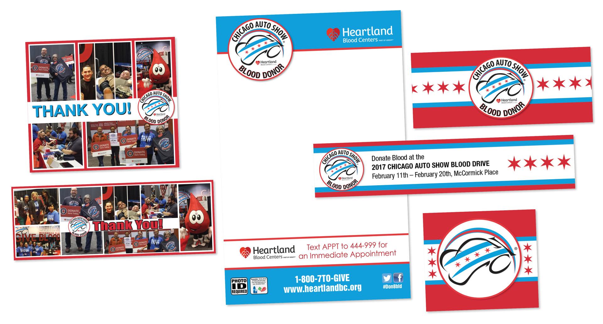 Heartland Blood Centers Eblast, Social Media Ads