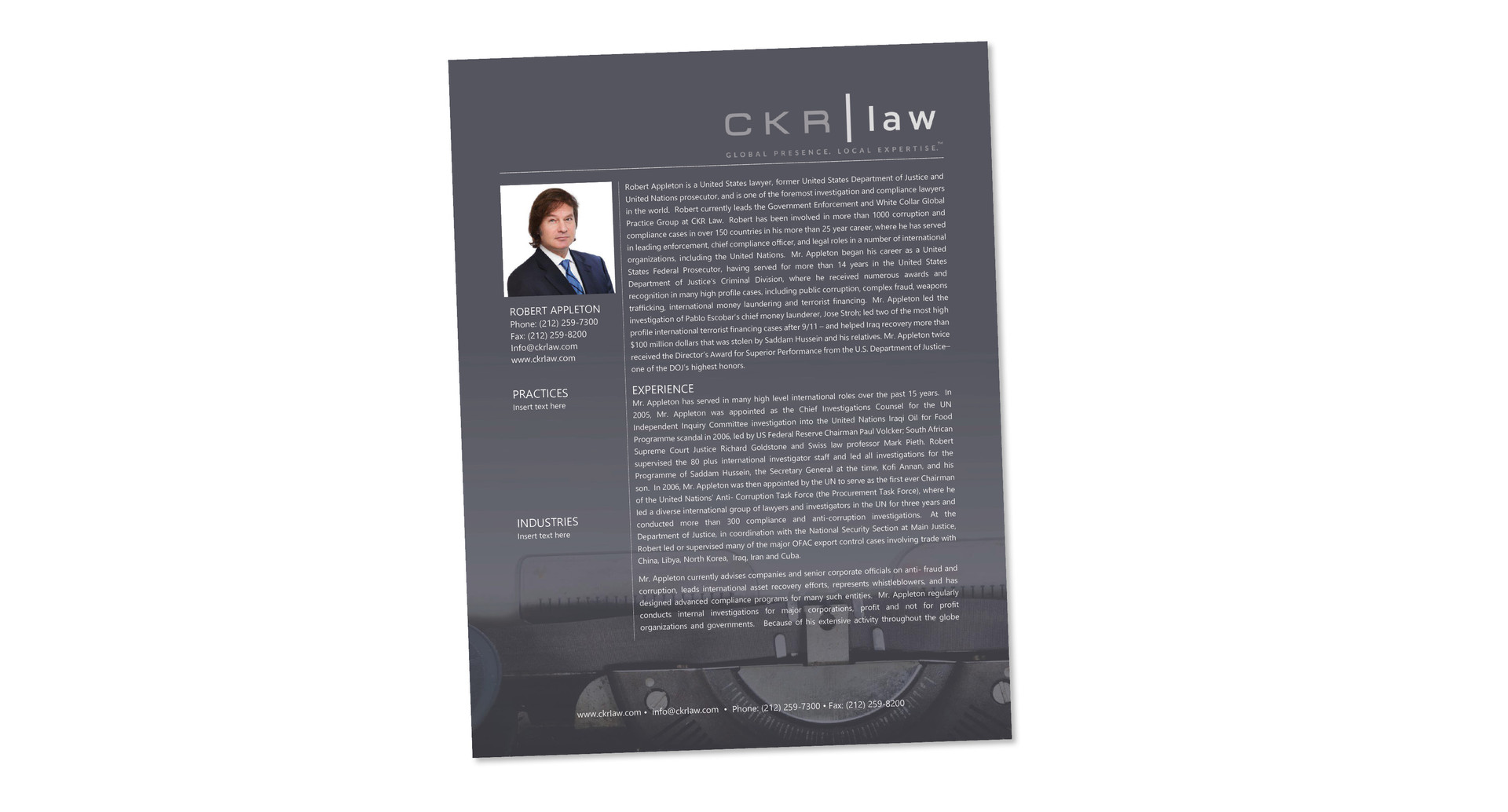 CKR Law Bio Template