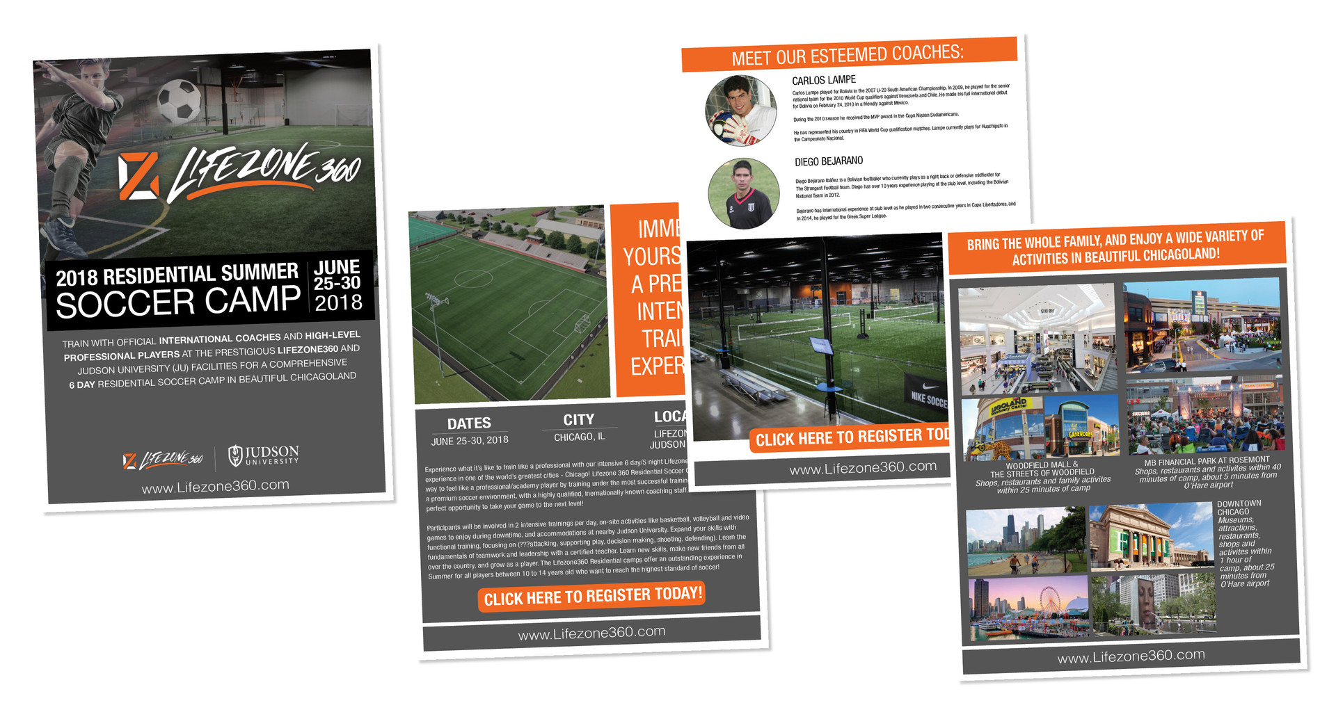 Lifezone 360 Soccer Camp Brochure