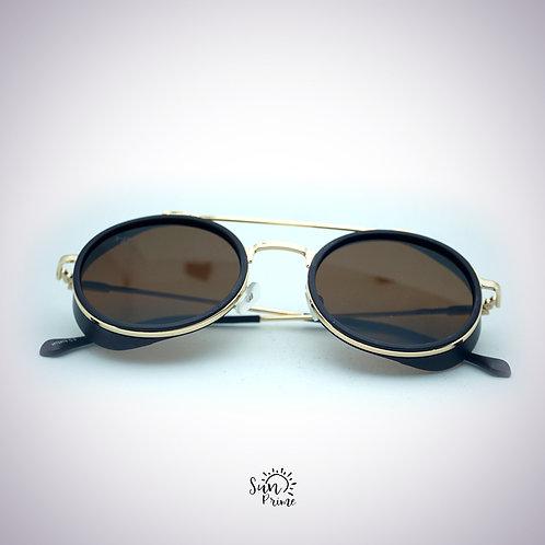 Óculos Sun prime Redondo Dourado