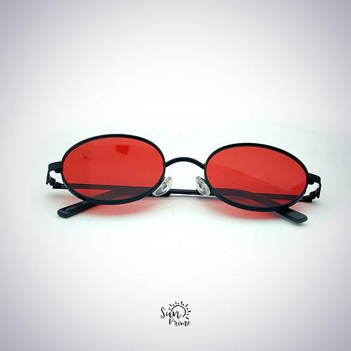 Óculos Sun prime Redondo Vermelho