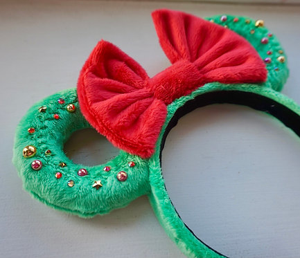 Green Wreath Mouse Ears RTS