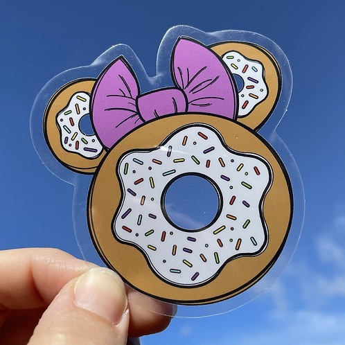 Plain Donut Cushion Sticker RTS