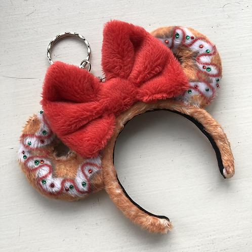 Gingerbread Mouse Ear Keyring