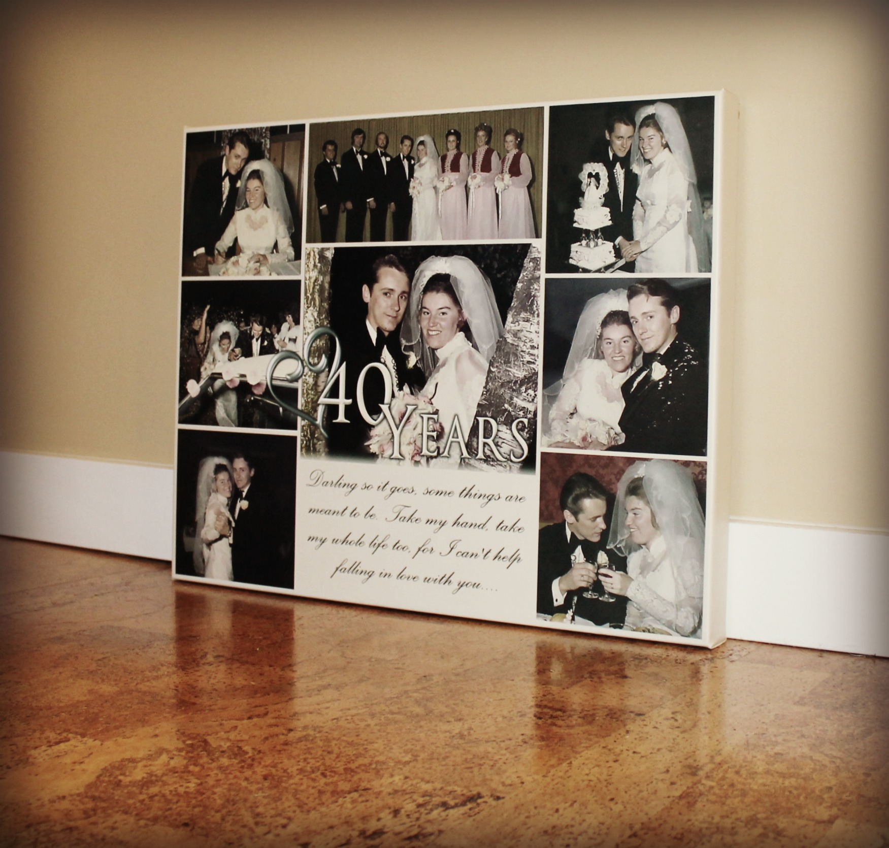 ANNIVERSARY COLLAGE CANVAS PRINT