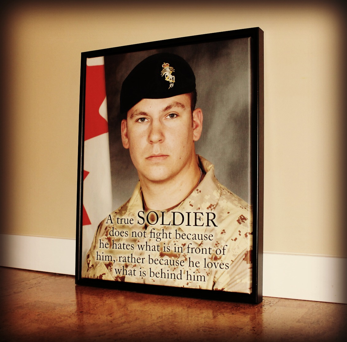 SOLDIER MILITARY CANVAS PRINT