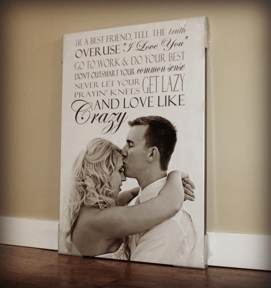 WEDDING LYRICS CANVAS PRINT