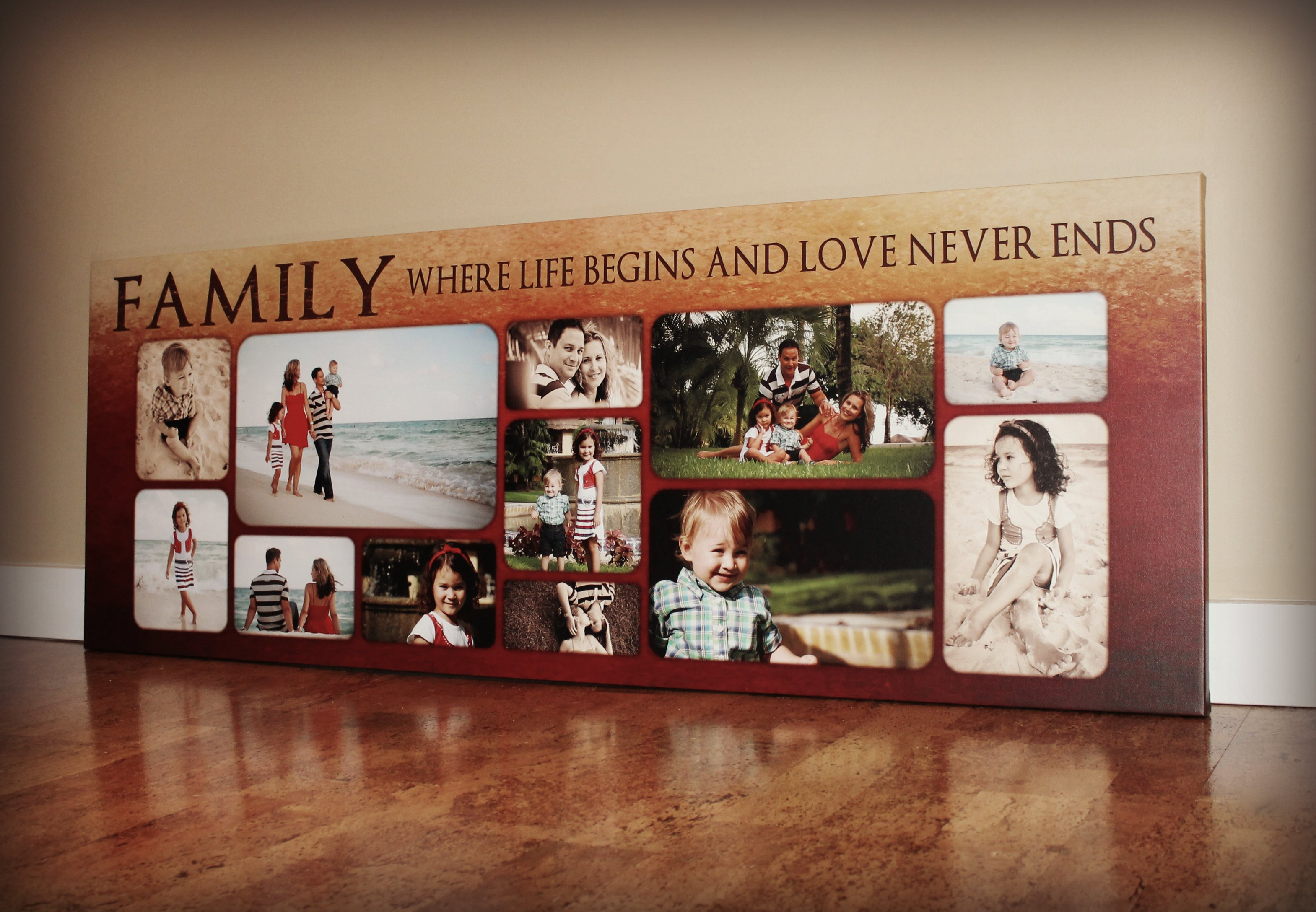 FAMILY COLLAGE CANVAS PRINT