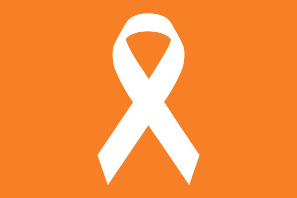 the ribbon for ms and ms awareness is orange