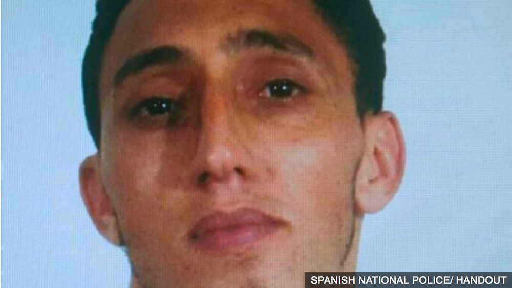 Spanish police have released the picture of a man they say is wanted in connection with the Barcelona attack