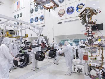 Watch NASA's Mars 2020 rover take shape