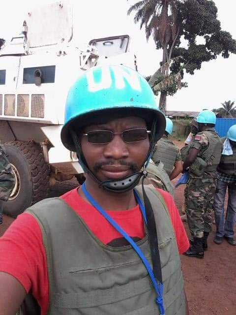 journalist mallick mnela while on assignment with the un - no stranger to trauma
