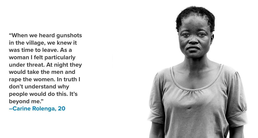 Carine Rolenga, DRC refugee