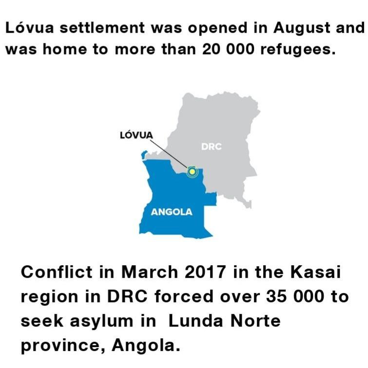 Lóvua refugee settlement, Angola