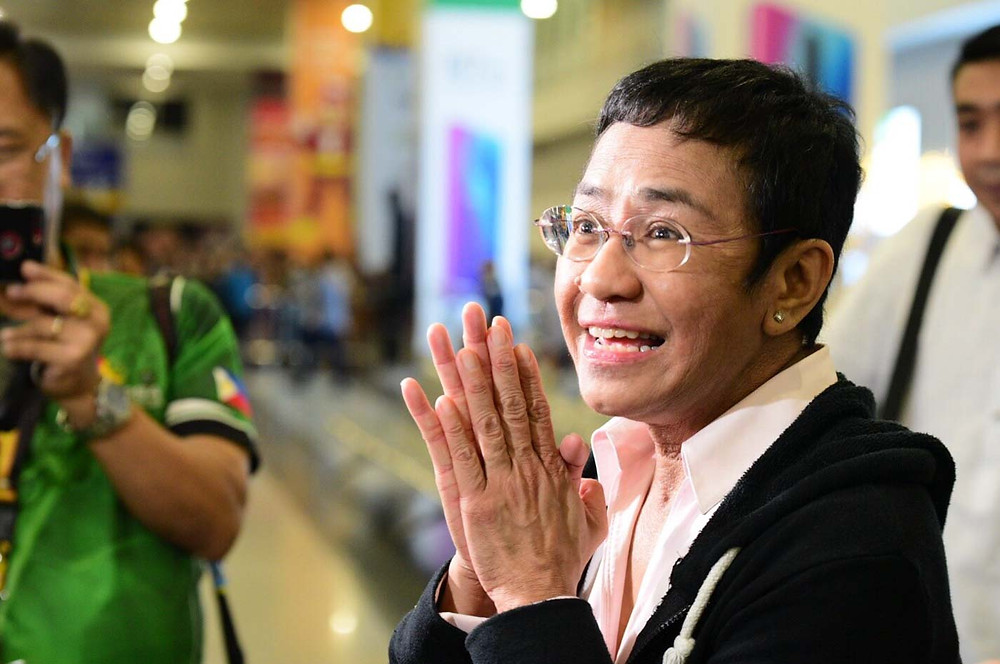 Maria Ressa Rappler Arrest Philippines Duterte