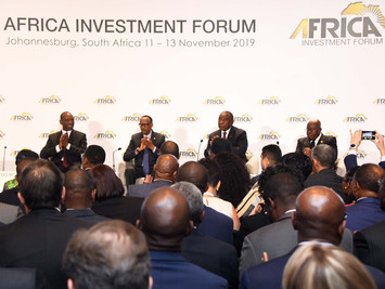 Heads of State pitch at the Africa Investment Forum