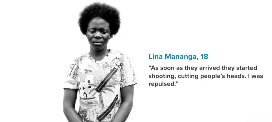 Lina Mananga, DRC refugee