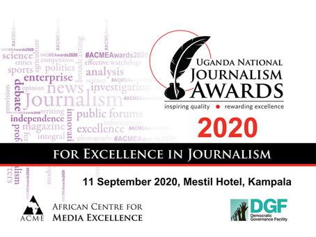 Ugandan journalists honoured in national journalism awards
