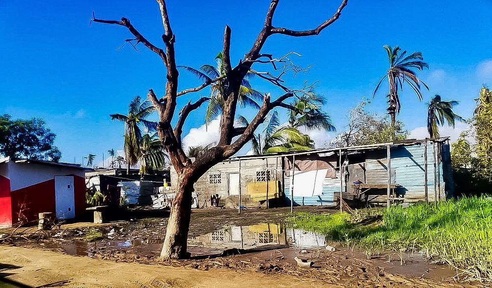 flood damage in beira after cyclone idai