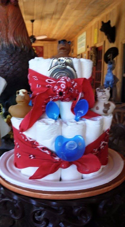 LaPorte Farms diaper cake