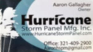 Hurricane Storm Panel Manufacturing Inc.