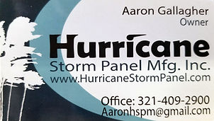 Hurricane Storm Panel Manufacturing Inc.