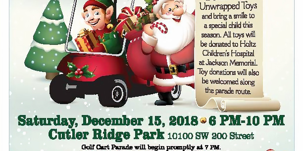 8th Annual Holiday Golf Cart Parade,Toy Drive,Winter Celebration