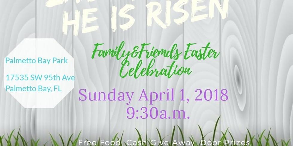 Family friends Easter celebration