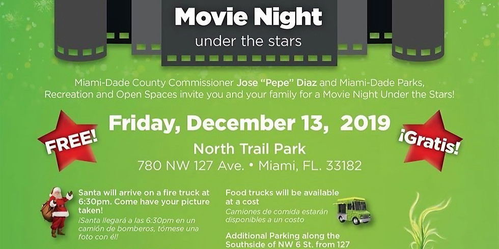Movie Night Under the Stars with Commissioner Diaz