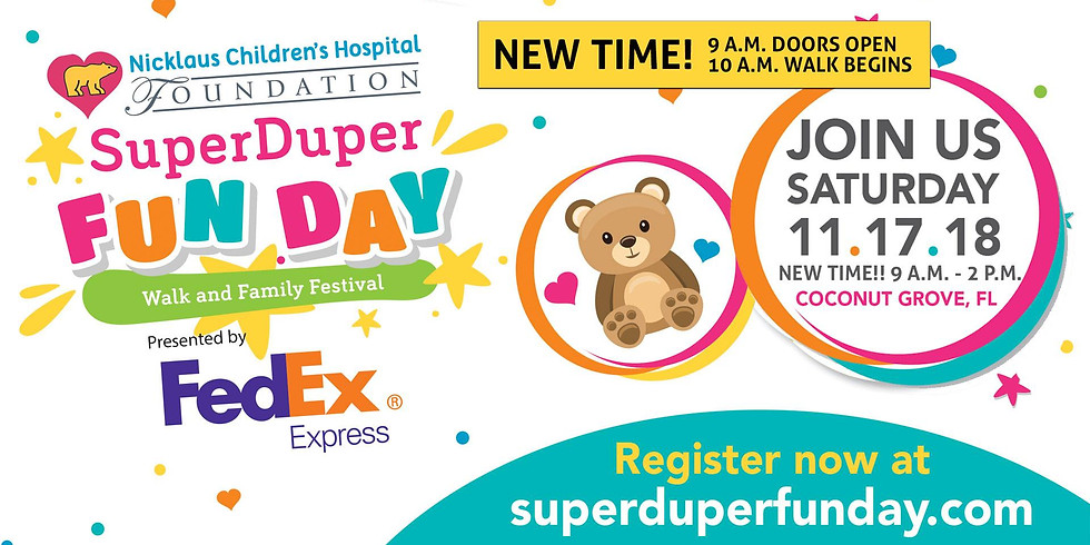 SuperDuper Fun Day: Walk and Family Festival presented by FedEx