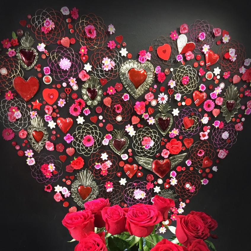 Love heart wall display
