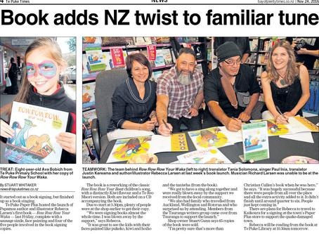 Te Puke Times celebrates our book launch.