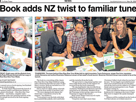 Te Puke Times celebrates our book launch.