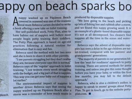 Nappy on the beach sparks book - Papamoa Post