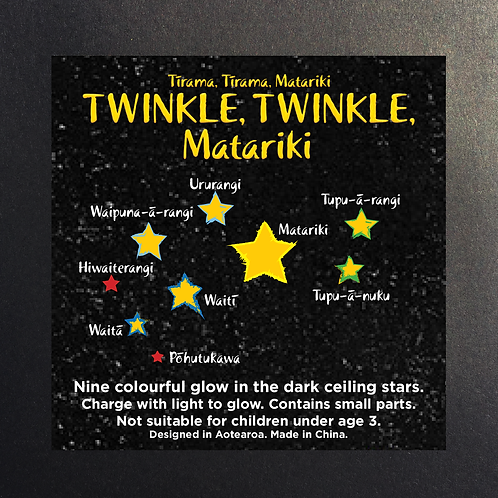 Matariki ceiling glow in the dark stars