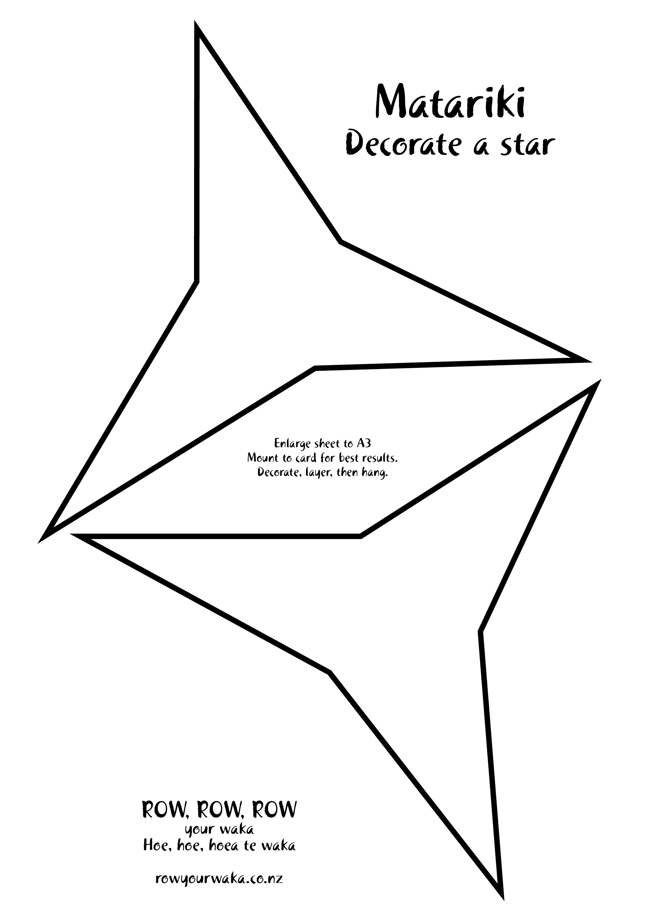 Matariki decorate a star