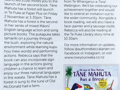 Invitation to our book launch in Te Puke