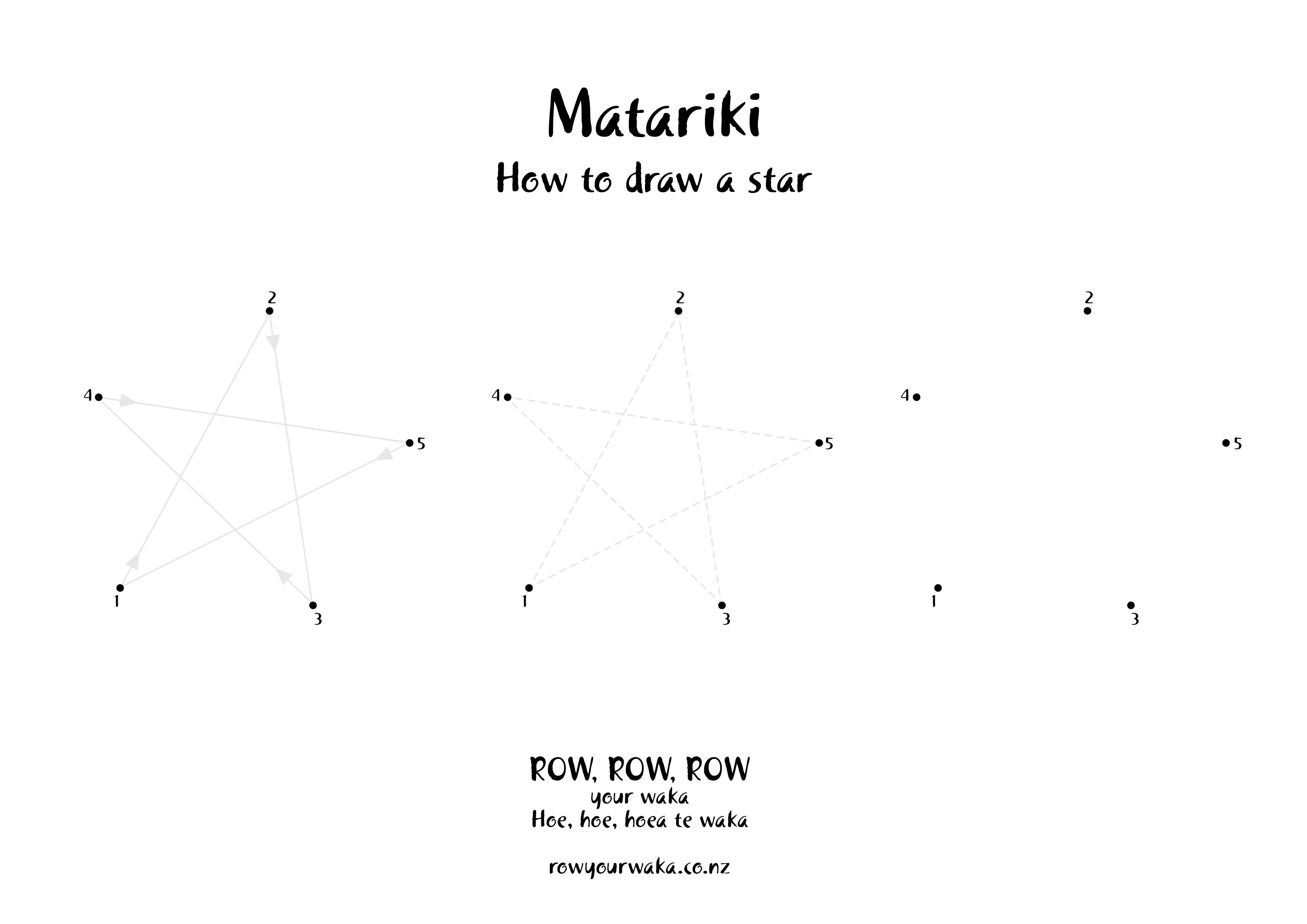 Matariki draw a star