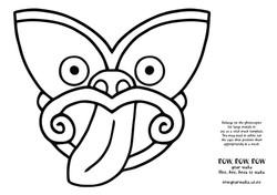 Taniwha Head Pattern