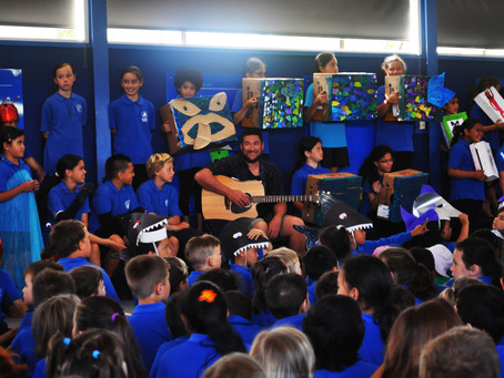 Arataki school celebrates local Authors new songbook