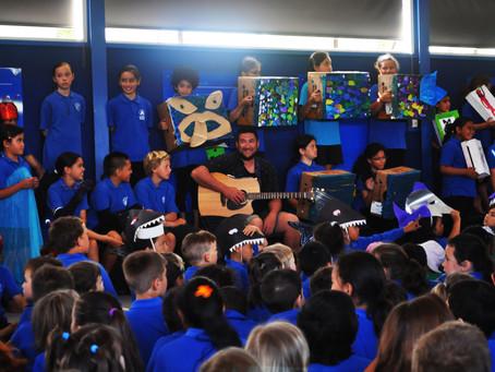 Arataki school celebrates local Authors new songbook