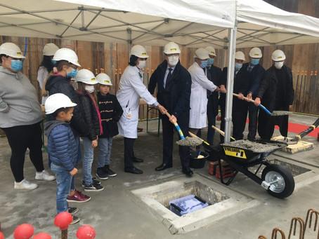 Pose de la première pierre de la Maison des enfants et des adolescents à Genève
